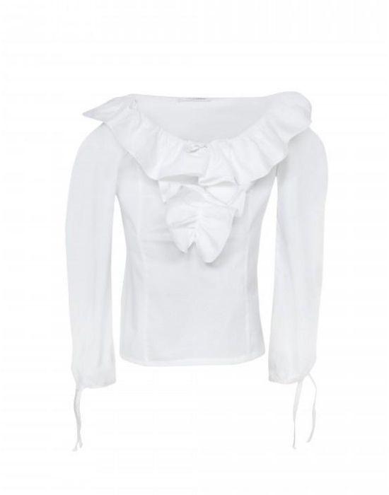 Βαμβακερή μπλούζα με βολάν Nara Camicie