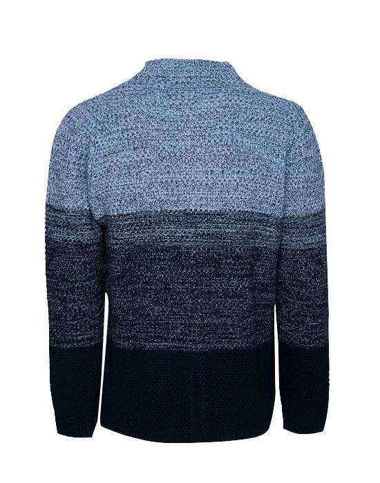 [el]Πλεκτή melange ζακέτα (πίσω)[en] Knitted melange cardigan (back)