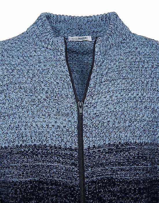 [el]Πλεκτή melange ζακέτα (λεπτομέρειες)[en]Knitted melange cardigan (details)