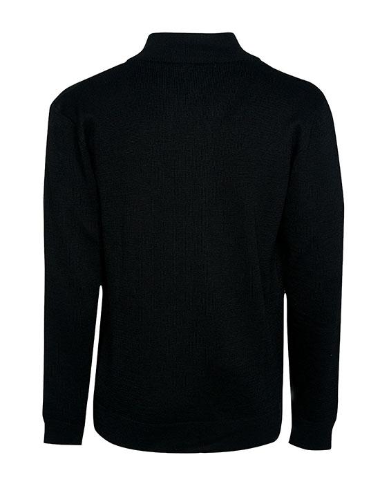 [el]Πλετή ζακέτα με ασύμμετρο κούμπωμα (πίσω)[en]Knitted cardigan with asymmetric clasp (back)