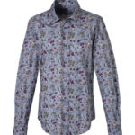 Micro floral classic shirt (front)