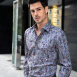 Micro floral classic shirt