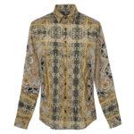 Foulard pattern men's shirt (front)