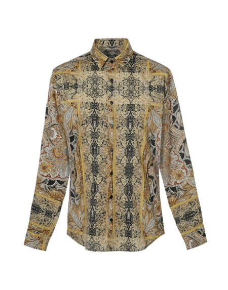 Foulard pattern ανδρικό πουκάμισο (μπροστά)