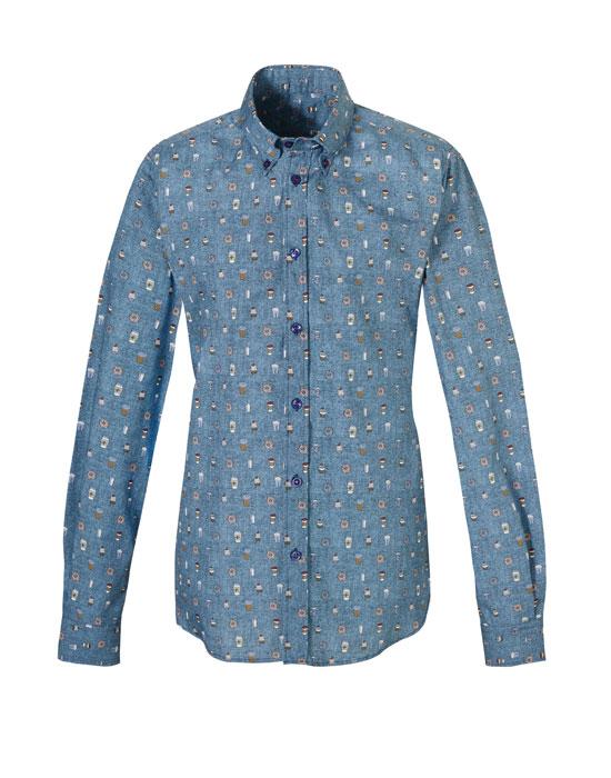 Ανδρικό πουκάμισο με micro print τύπωμα | Nara Camicie