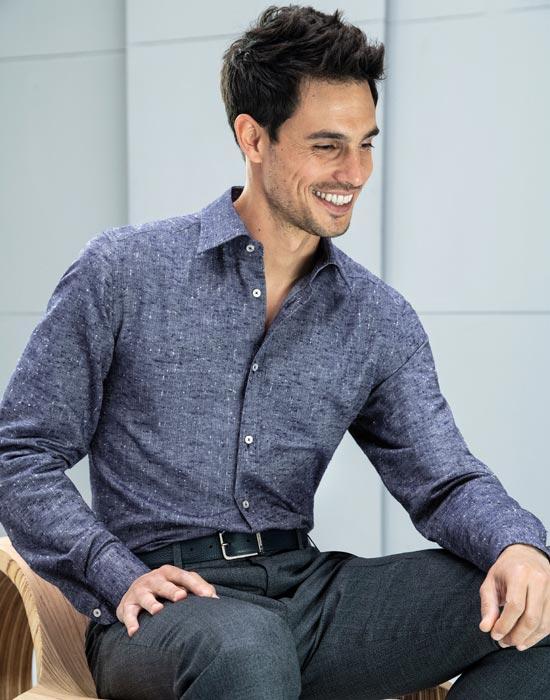 Ανδρικό πουκάμισο melange | Nara Camicie