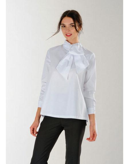 Βαμβακερή γυναικεία μπλούζα σε γραμμή Α