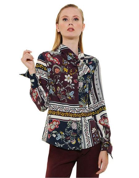 Foulard emprime γυναικείο πουκάμισο