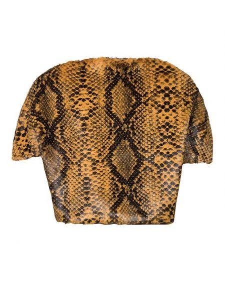 Γυναικεία Λούτρινη κάπα με snake τύπωμα πίσω