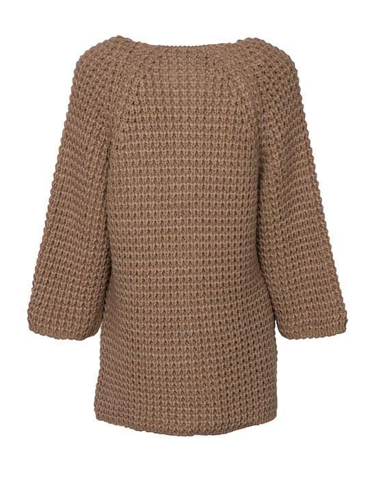 [el]Γυναικεία πλεκτή μακρυά ζακέτα πίσω[en]Women's knitted long cardigan back