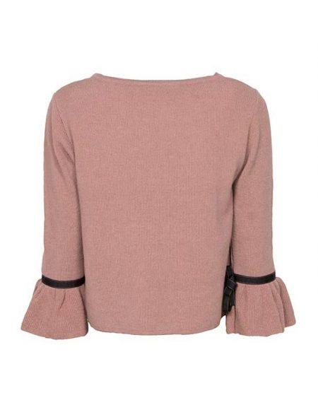 Γυναικεία pλεκτή μπλούζα με τρουά καρ μανίκια πίσω