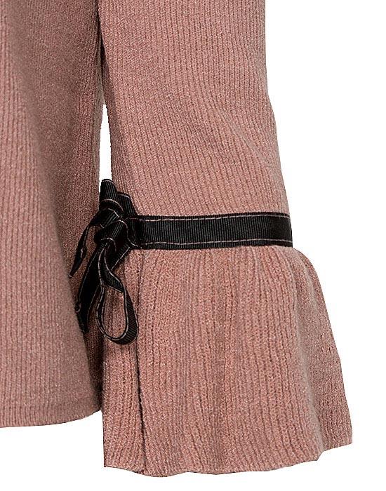 [el]Γυναικεία pλεκτή μπλούζα με τρουά καρ μανίκια λεπτομέρειες[en]Women's knitted blouse with trousers card sleeves details