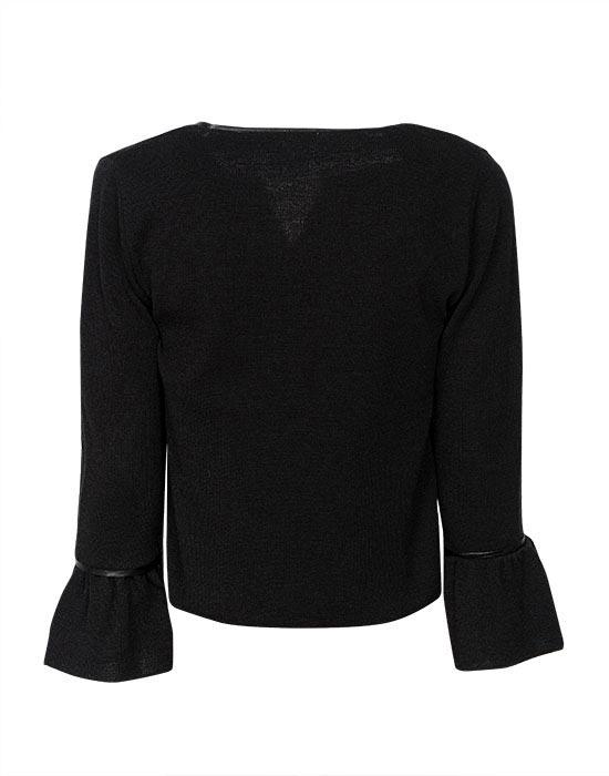 [el]Γυναικείο πλεκτή ζακέτα με φερμουάρ πίσω[en]Women's knitted cardigan with zipper back