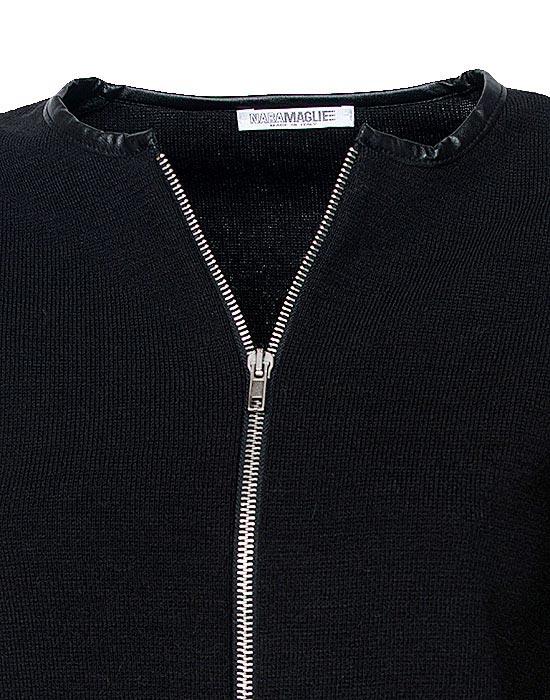 [el]Γυναικείο πλεκτή ζακέτα με φερμουάρ λεπτομέρειες[en]Women's knitted cardigan with zipper details