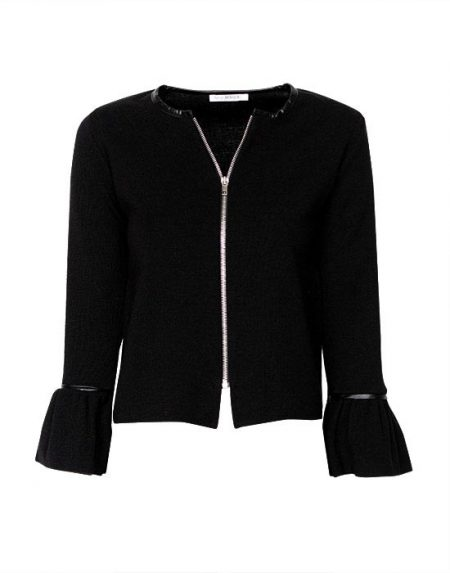 Women's knitted cardigan with zipper