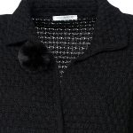 Women's knitted cardigan with plush pockets details