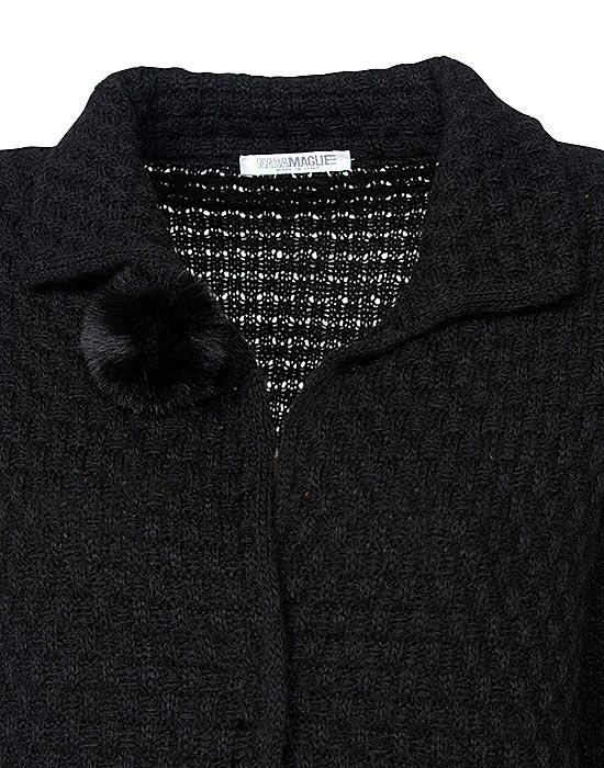 [el]Γυναικείο πλεκτή ζακέτα με λούτρινες τσέπες λεπτομέρειες[en]Women's knitted cardigan with plush pockets details