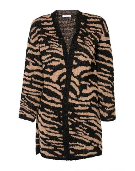 Women's cardigan animalier