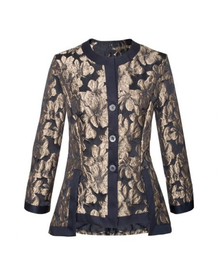 Women's Asymmetric Brocade Shirt