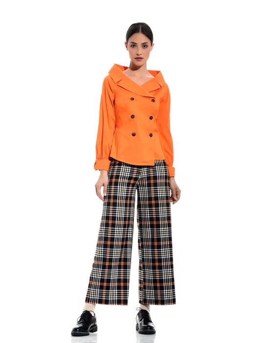[el]Crossbutton βαμβακερό πουκάμισο (ολόσωμη πόζα)[en]Crossbutton cotton shirt (full body pose)