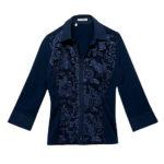 Δαντελένιο πουκάμισο με φερμουάρ