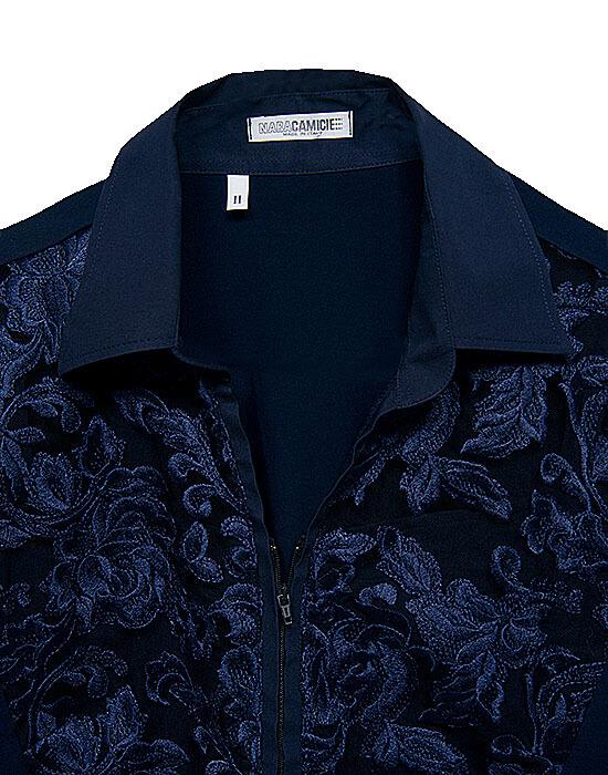 [el]Δαντελένιο πουκάμισο με φερμουάρ (λεπτομέρειες)[en] Lace Shirt with Zip (details)