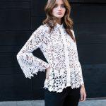 Γυναικείο Δαντελένιο πουκάμισο με swarovski lifestyle