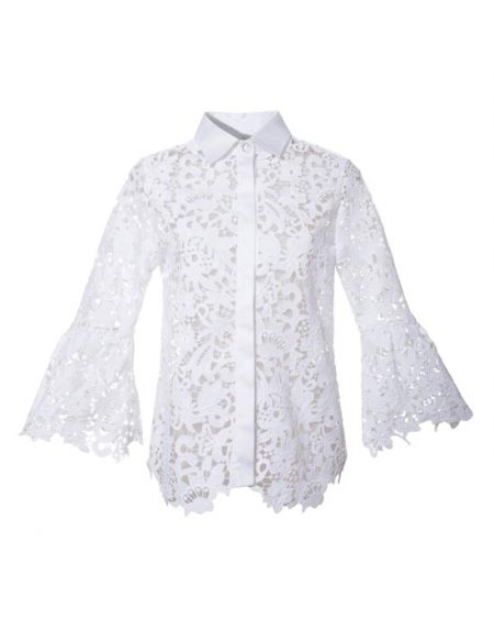 Women's lace shirt with swarovski