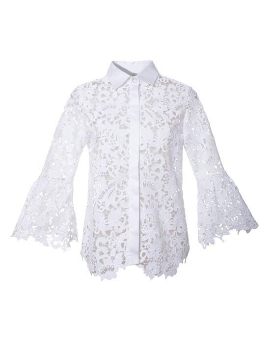 Γυναικείο Δαντελένιο πουκάμισο με swarovski