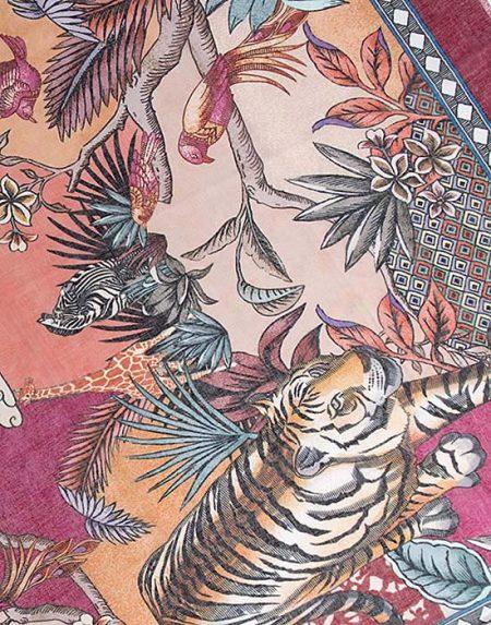 Γυναικείο Foulard με jungle τύπωμα λεπτομέρειες