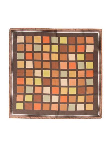 Γυναικείο foulard με καρο τύπωμα λεπτομέρειες