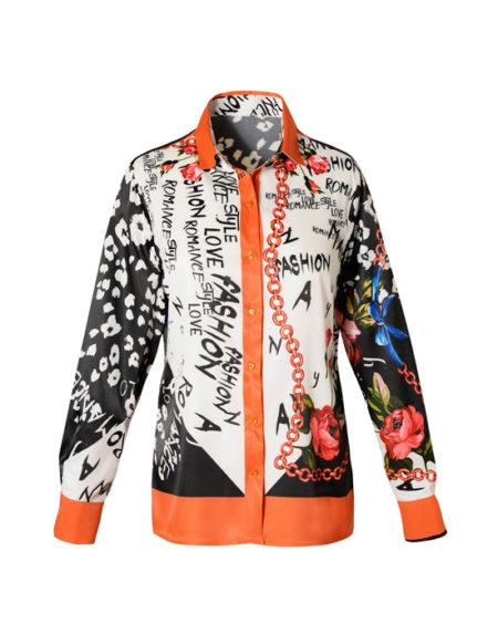 Foulard pattern πουκάμισο (μπροστά)