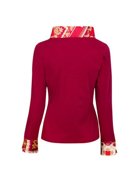 Jersey γυναικείο πουκάμισο baroque print | Nara Camicie