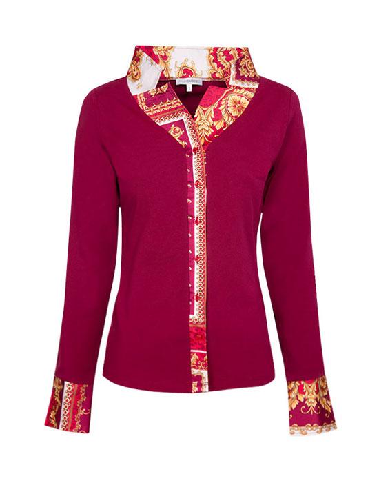 Γυναικείο πουκάμισο baroque print 2 | Nara Camicie