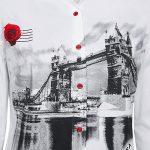 Γυναικείο κλασσικό London Bridge printed πουκάμισο λεπτομέρειες