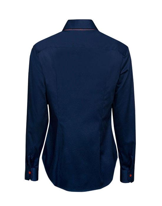 [el]Γυναικείο κλασικό πουκάμισο με διπλό button down πίσω[en]Women's classic shirt with double button down collar back