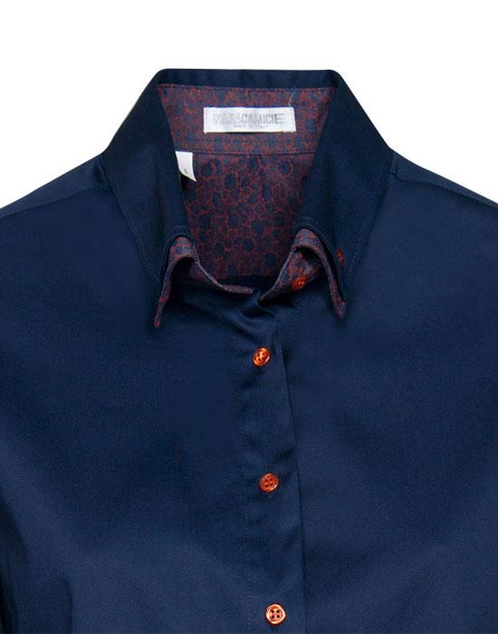 [el]Γυναικείο κλασικό πουκάμισο με διπλό button down γιακά λεπτομέρειες[en]Women's classic shirt with double button down collar details
