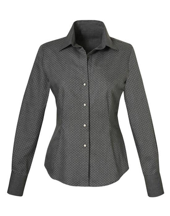 Κλασικό πουκάμισο με micro dots