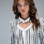 Γυναικείο meryl gkofre πουκαμισο με rozeta