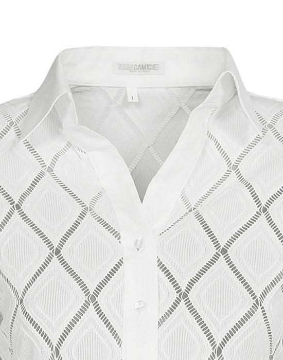 Meryl πουκάμισο με ρόμβους 3   Nara Camicie
