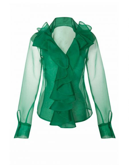Women's silk organza shirt