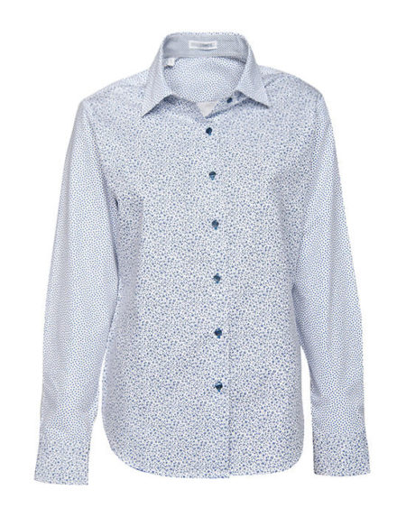 Patchwork liberty printed πουκάμισο
