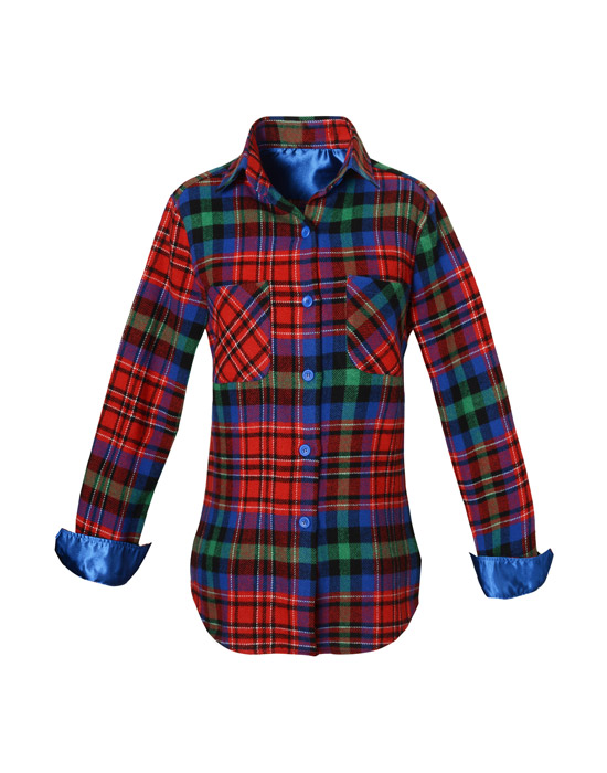 Plaid Women's Wool Shirt (Front)