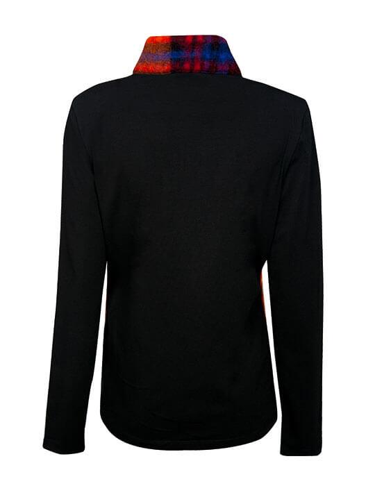 [el]Plaid μάλλινο σακάκι (πίσω)[en]Plaid woolen jacket (back)