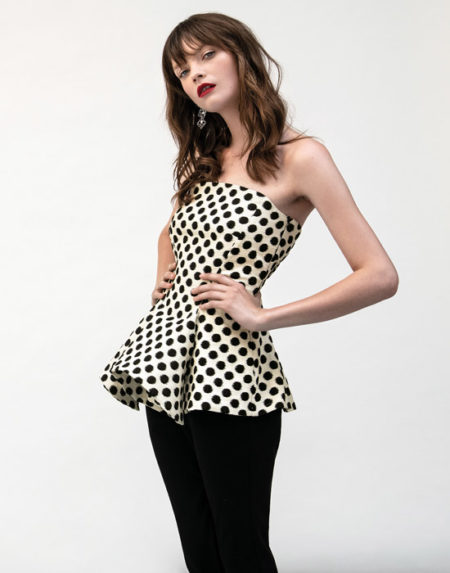 Pois bustier top