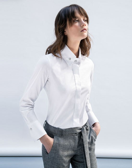 [el]Γυναικείο Πουκάμισο με κουμπιά swarovski[en]Women's Shirt with swarovski buttons