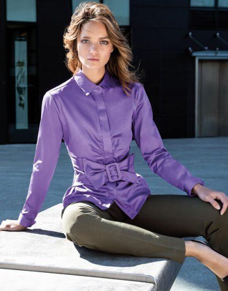 Γυναικείο πουκάμισο με ζώνη | Nara Camicie