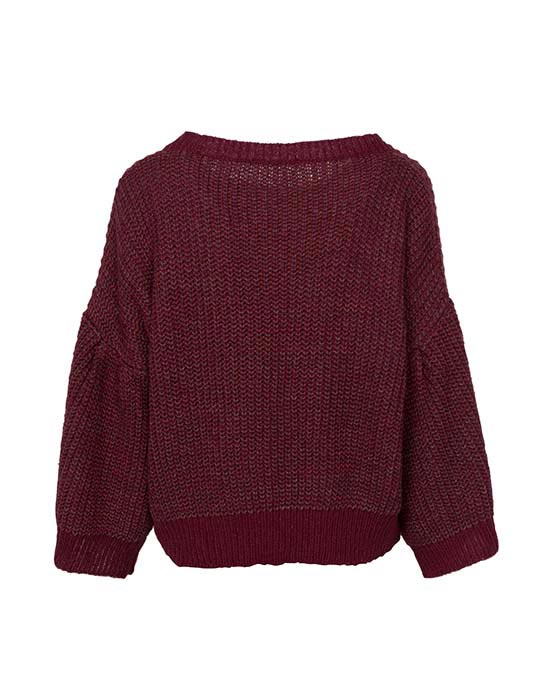 [el]Γυναικείο Pullover με balloon μανίκια πίσω[en]Women's Pullover with balloon sleeves back