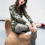 Women's satin foulard shirt
