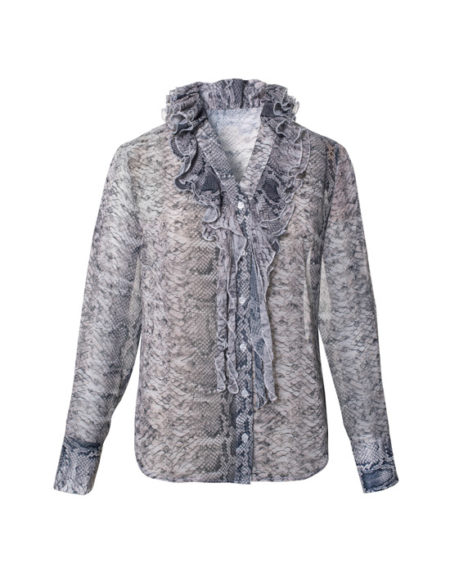 Snake skin pattern shirt